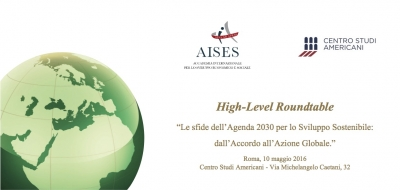 "High-Level Roundtable ""The Challenges of the 2030 Agenda for Sustainable Development: from Agreement to Global Action"""