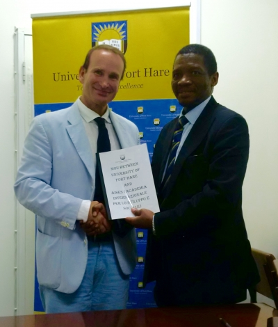 Partnership between AISES and University of Fort Hare - President De Luca visits South Africa